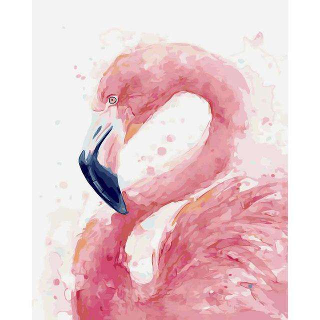 Lonely Flamingo - Paint by Numbers Kits for Adults DIY