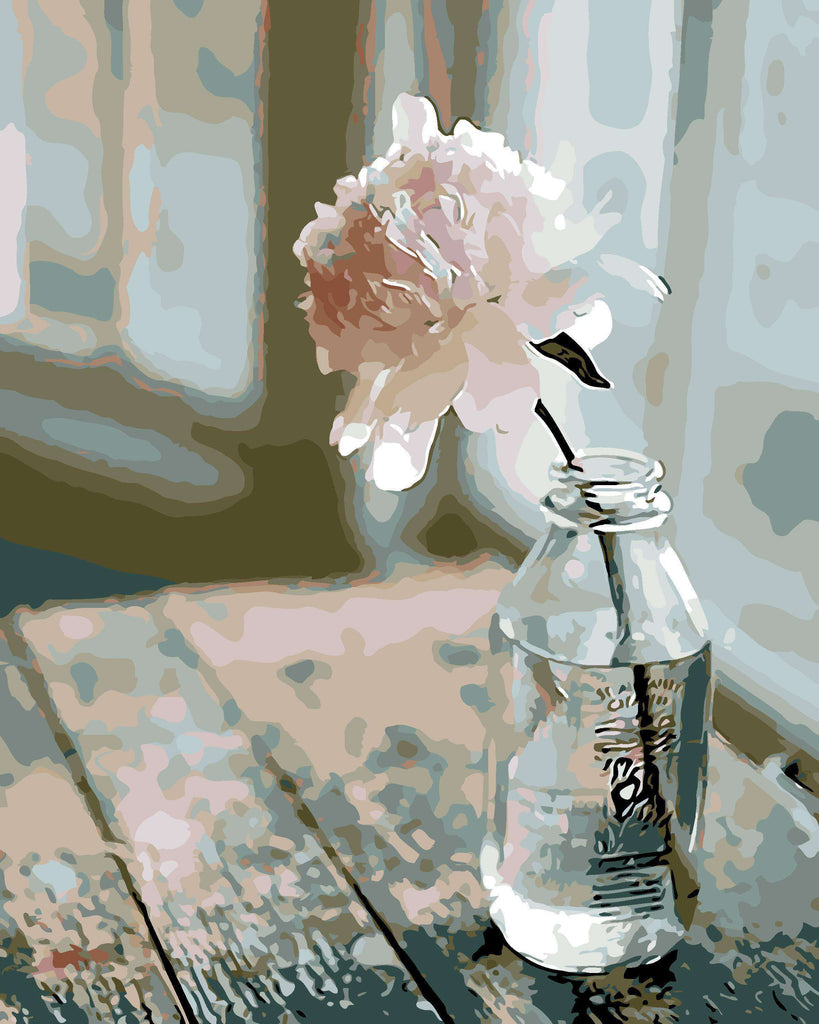 Lonely Rose - Paint by Numbers Kits for Adults DIY - Paint by Numbers for Adults
