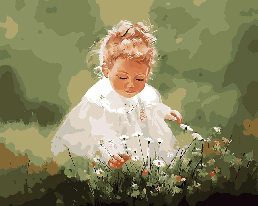 Lovely Baby in the Garden - Paint by Numbers Kits for Adults DIY