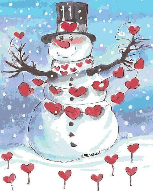 Lovely Snowman - Paint by Numbers Kits for Adults DIY