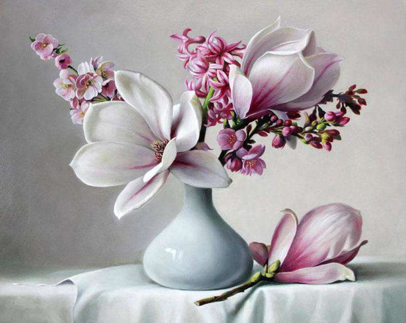 Magnolia Flower - Paint by Numbers Kits for Adults DIY