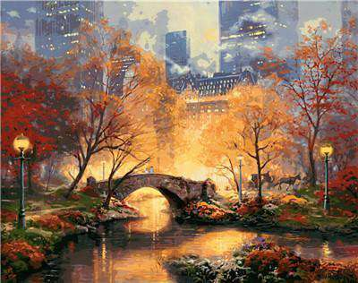 Manhattan Autumn - Paint by Numbers Kits for Adults DIY - Paint by Numbers for Adults