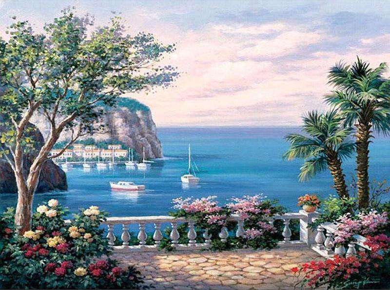 Mediterranean Sea - Paint by Numbers Kits for Adults DIY