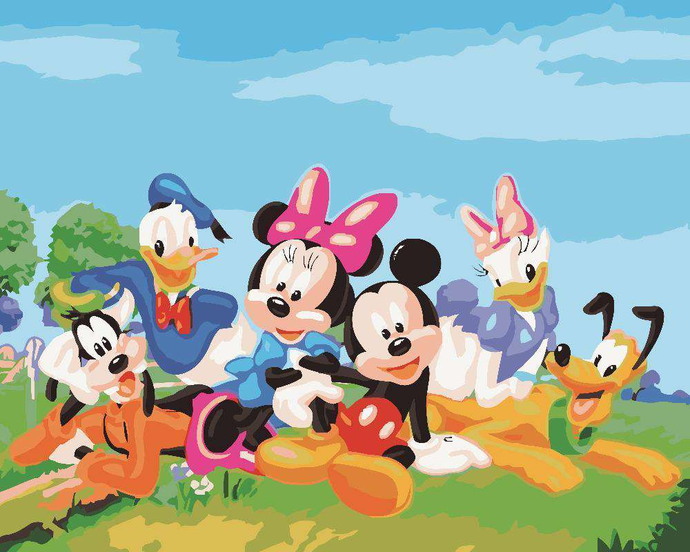 Mickey Mouse and his friends - Paint by Numbers Kits for Adults DIY