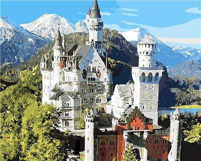 Neuschwanstein Castle Germany - Paint by Numbers Kits for Adults DIY