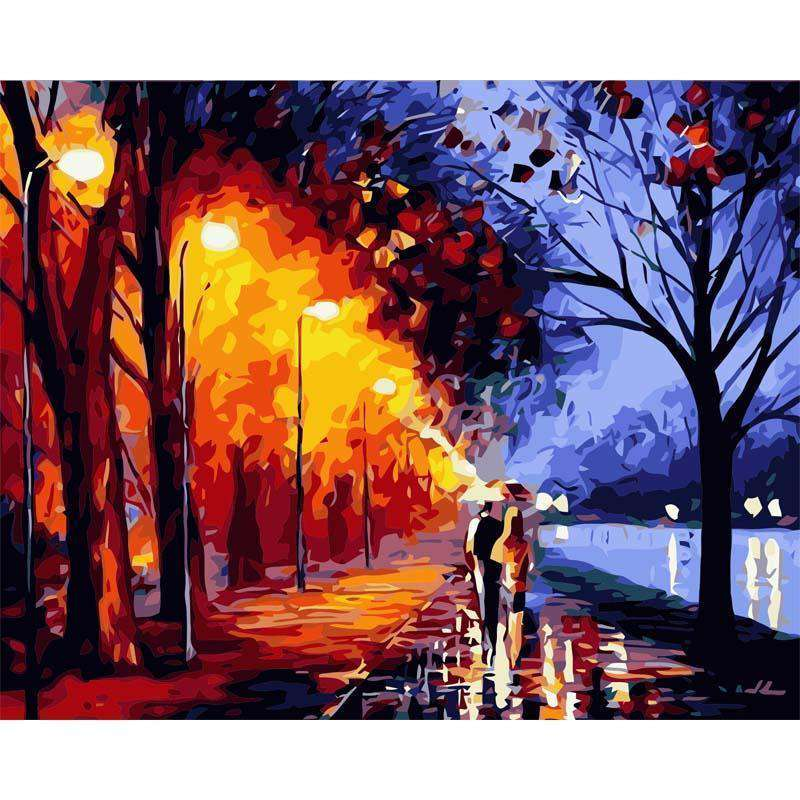 Night Walk - Paint by Numbers Kits for Adults DIY