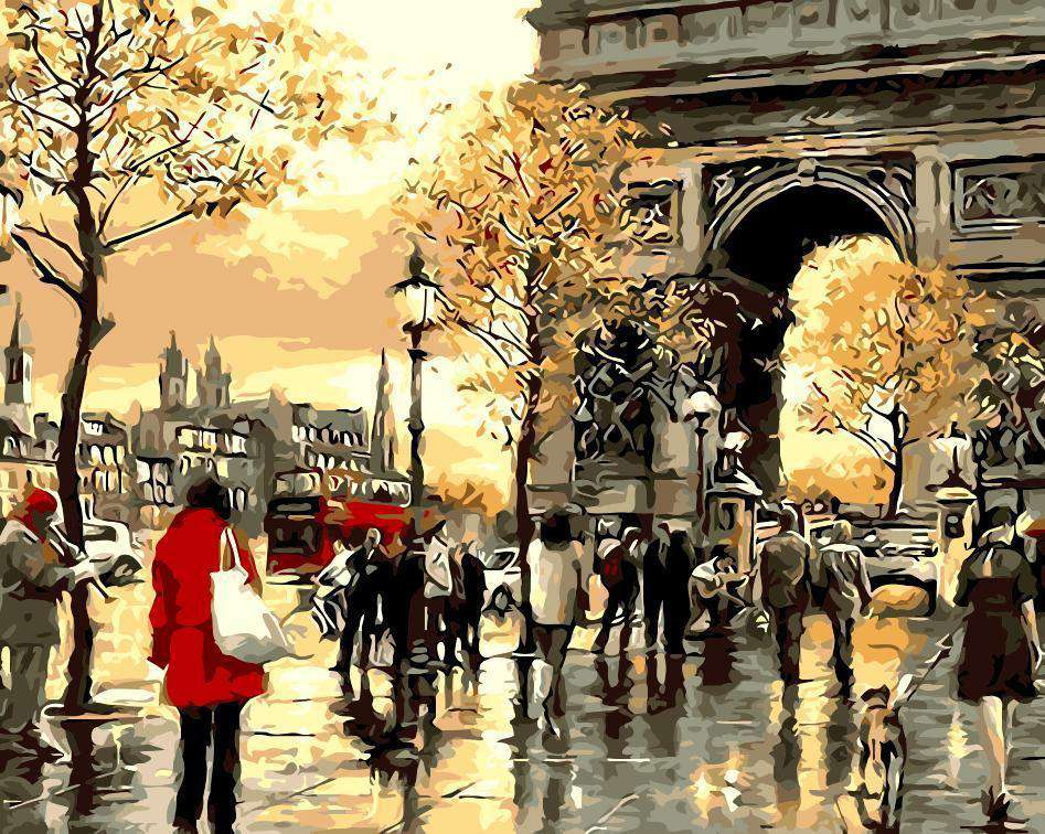 Paris Arc de Triomphe - DIY Paint by Numbers