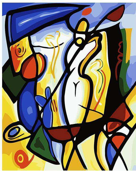 Picasso Abstract Cubist Series - DIY Paint by Numbers