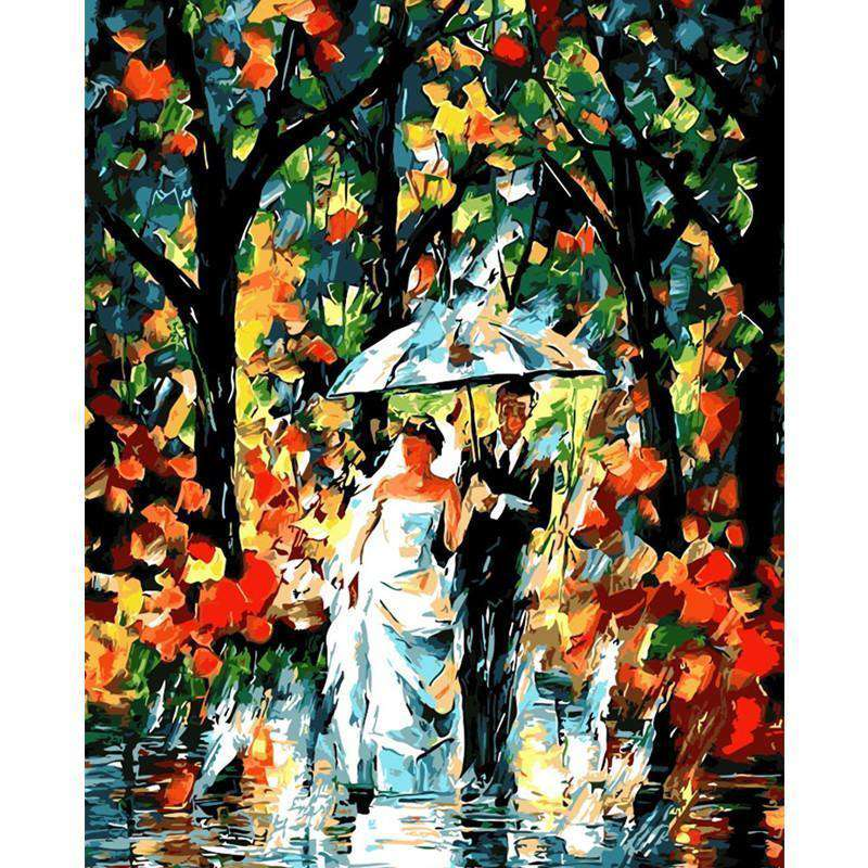 Rain Fog in Wedding Day - Paint by Numbers Kits for Adults DIY