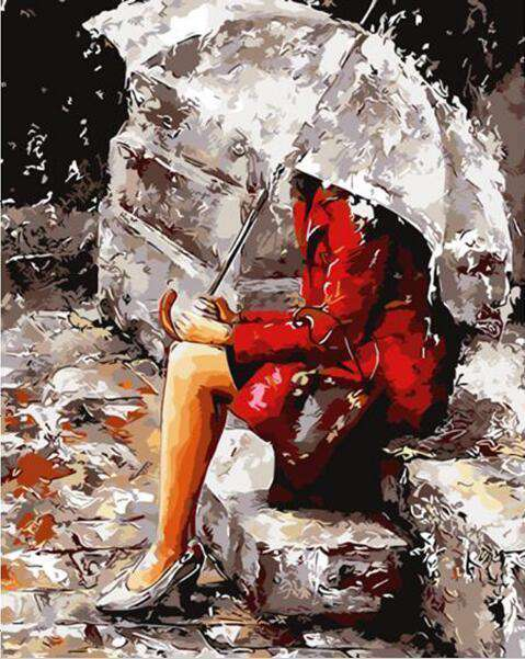 Raining Lady - Paint by Numbers Kits for Adults DIY