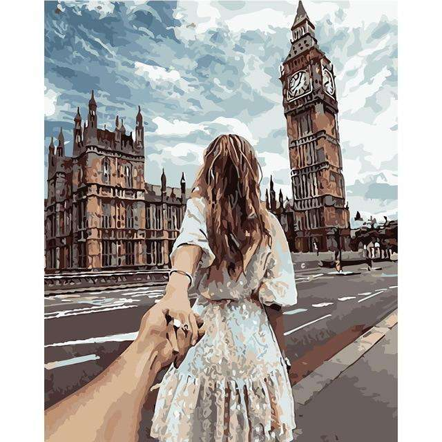 Romantic London Trip - Paint by Numbers Kits for Adults DIY