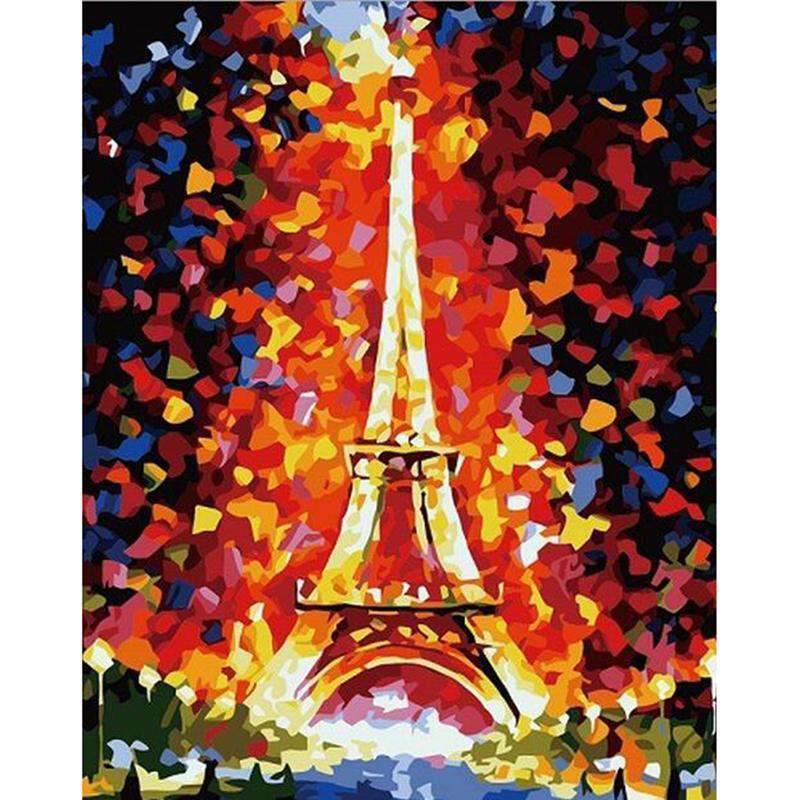 Romantic Paris Eiffel Tower - Paint by Numbers Kits for Adults DIY