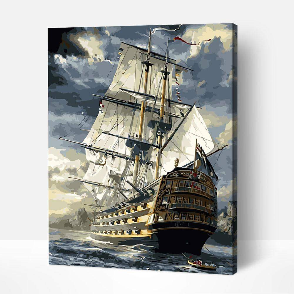 Sailing Boat - Paint by Numbers Kits for Adults DIY
