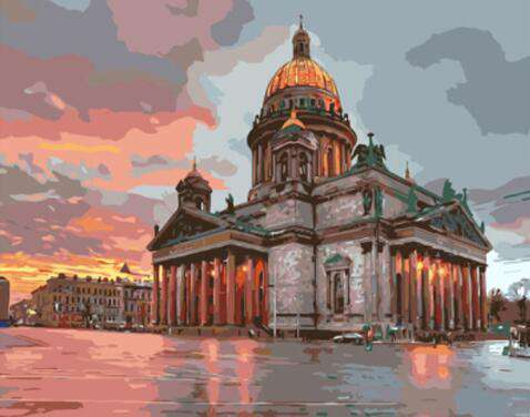 Saint Isaac's Cathedral St Petersburg - Paint by Numbers Kits for Adults DIY