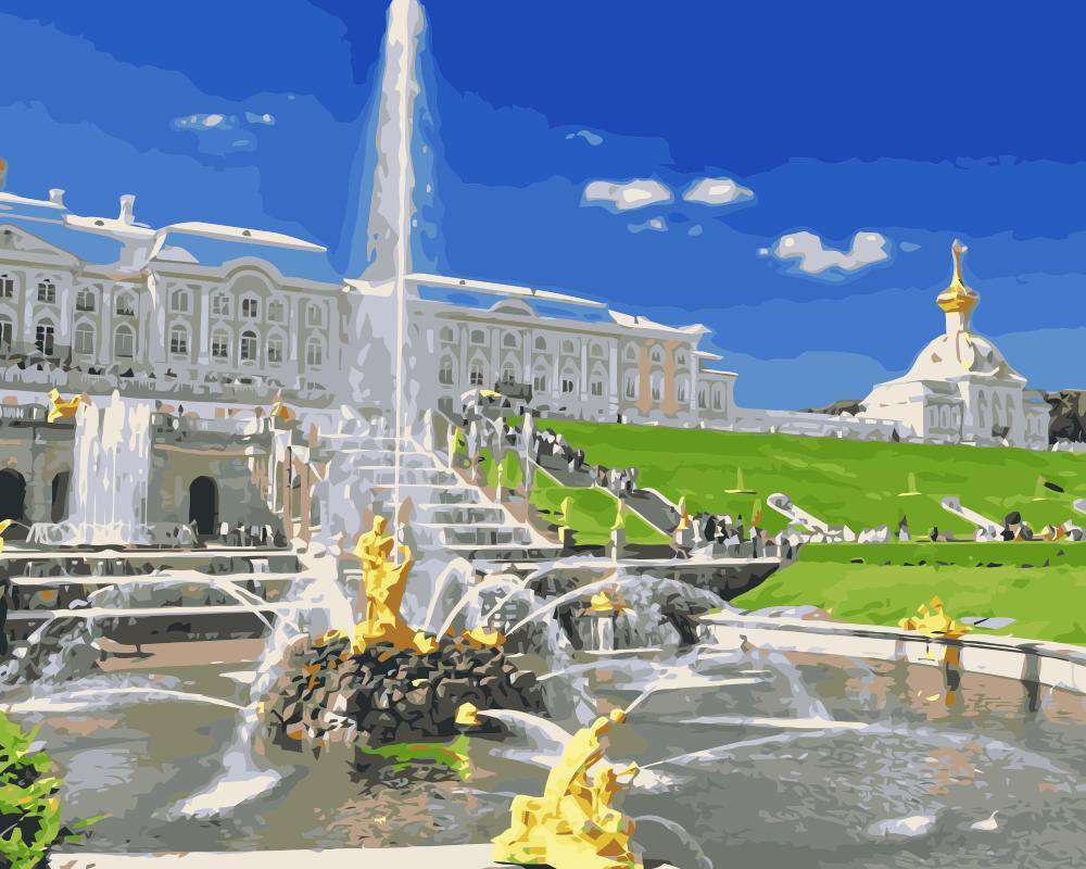 Saint Petersburg The Peterhof Palace -  Paint by Numbers Kits for Adults DIY