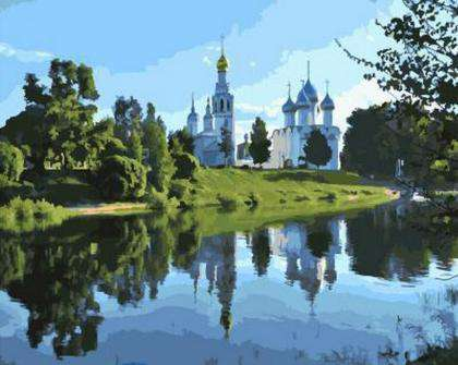 Saint Sophia Cathedral, Vologda - Paint by Numbers Kits for Adults DIY - Paint by Numbers for Adults
