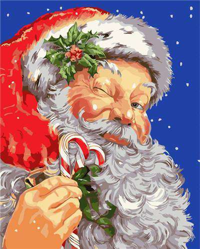 Santa Claus Wink - Paint by Numbers Kits for Adults DIY - Paint by Numbers for Adults