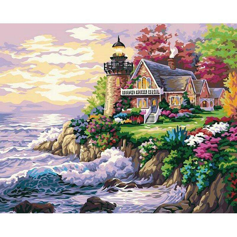 Seaside Villas - Paint by Numbers Kits for Adults DIY