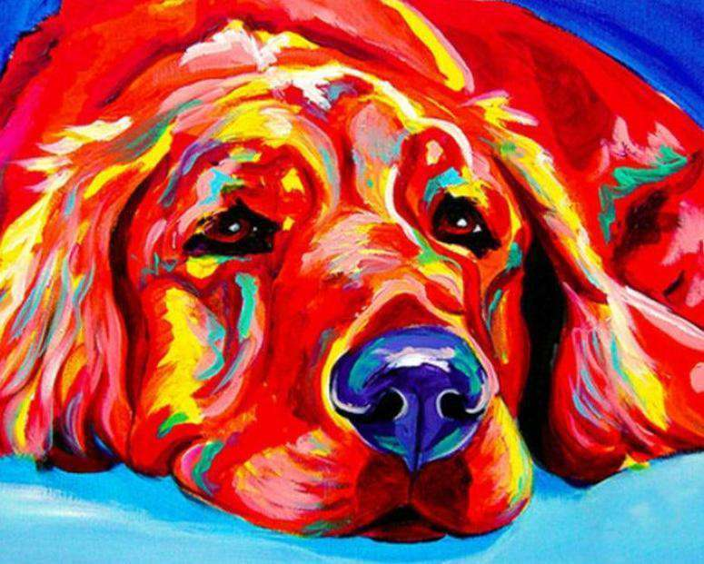Sleepy Dog Labrador Retriever - Paint by Numbers Kits for Adults DIY