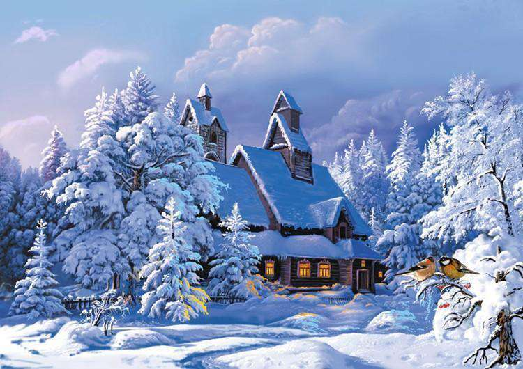 Snow Chalet - Paint by Numbers Kits for Adults DIY