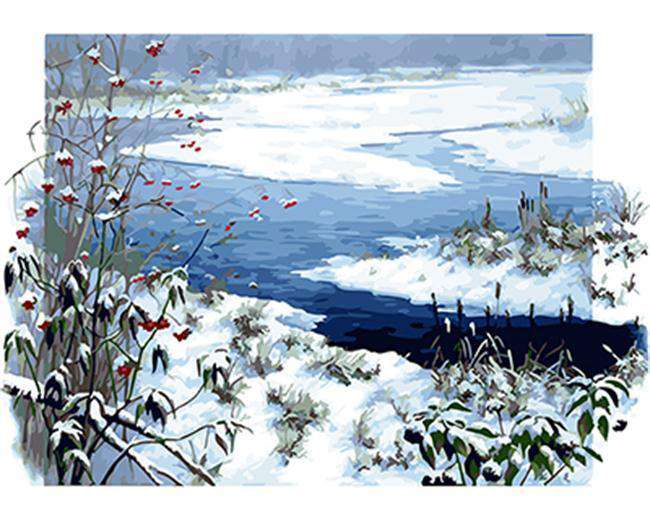Snow River - Paint by Numbers Kits for Adults DIY - Paint by Numbers for Adults