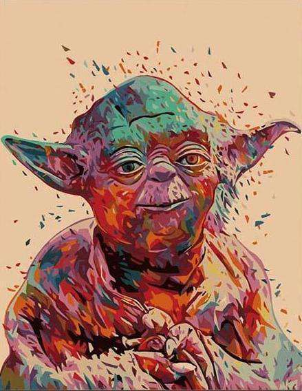 Star Wars Yoda - Paint by Numbers Kits for Adults DIY