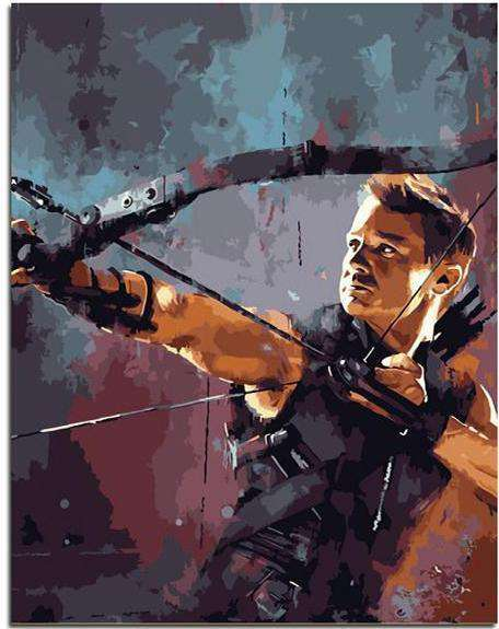 The Avengers Hawkeye - Paint by Numbers Kits for Adults DIY