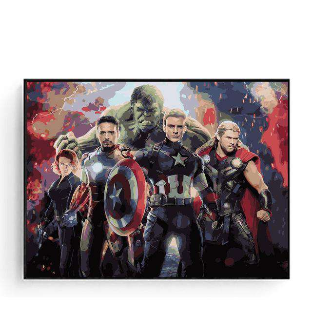 The Avengers Infinity War - Paint by Numbers Kits for Adults DIY - Paint by Numbers for Adults