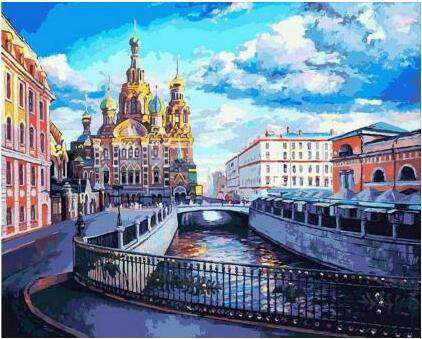 The Church of the Savior on Spilled Blood - Paint by Numbers Kits for Adults DIY