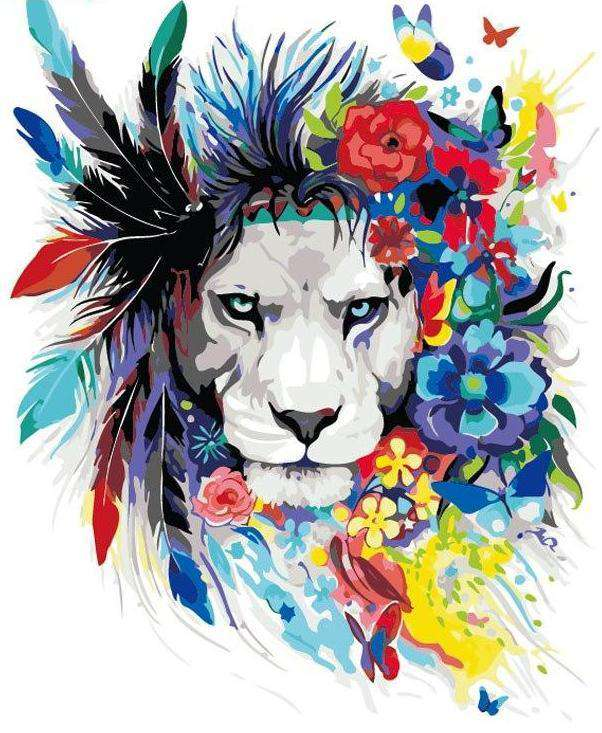 Tropical Lion - Paint by Numbers Kits for Adults DIY