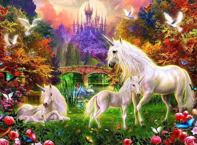 Unicorn Land - Paint by Numbers Kits for Adults DIY