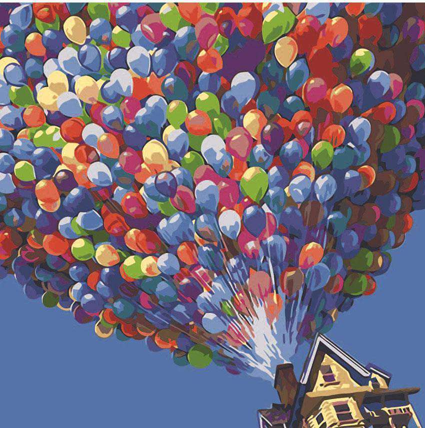 Up - Thousand Ballons - Paint by Numbers Kits for Adults DIY