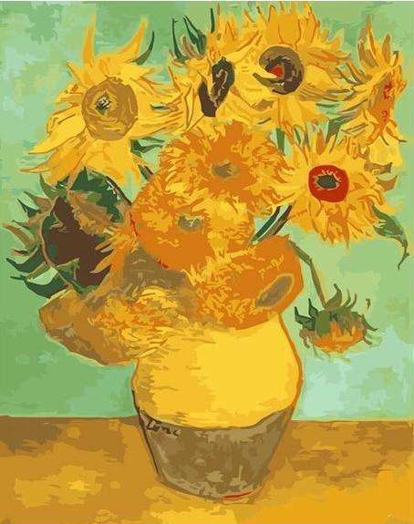 Van Gogh Sunflowers Series - Paint by Numbers Kits for Adults DIY - Paint by Numbers for Adults