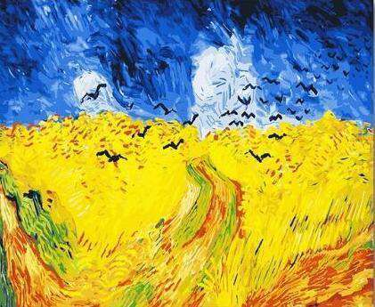 Van Gogh Wheatfield with Crows - Paint by Numbers Kits for Adults DIY - Paint by Numbers for Adults