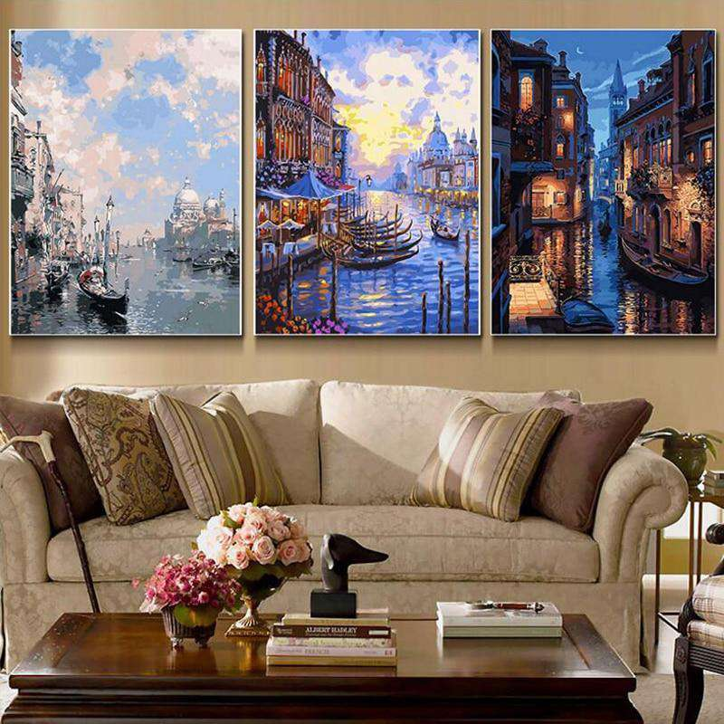 Venice 3 Pcs Set - Paint by Numbers Kits for Adults DIY - Paint by Numbers for Adults