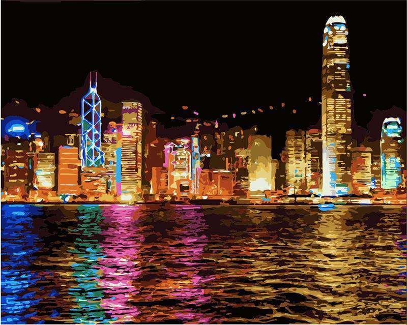 Victoria Harbour Hong Kong - Paint by Numbers Kits for Adults DIY
