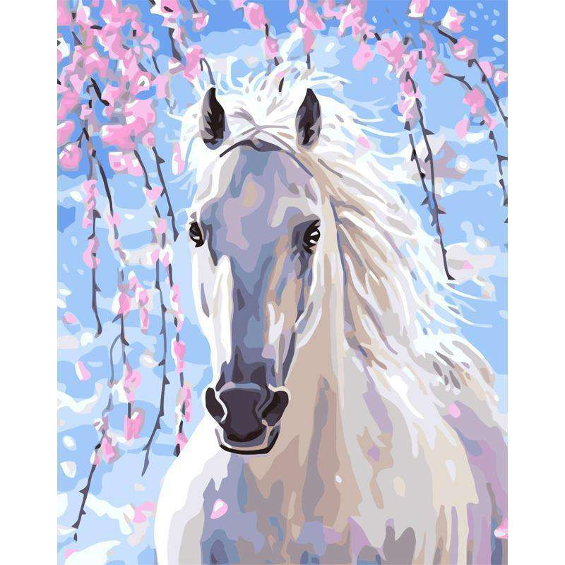 White Horse - Paint by Numbers Kits for Adults DIY
