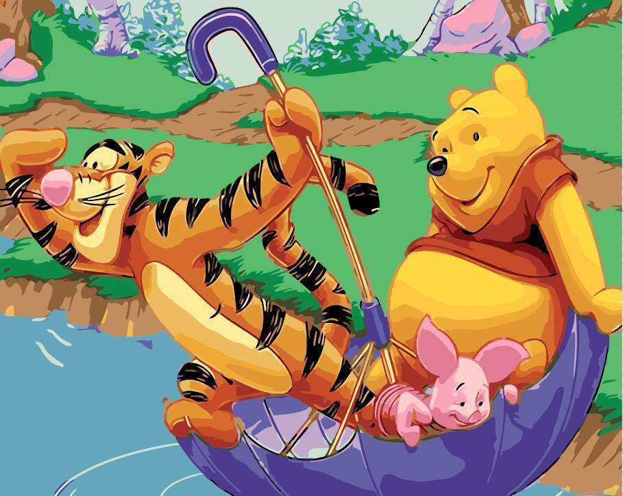 Winnie the Pooh and his friends on floater - Paint by Numbers Kits for Adults DIY