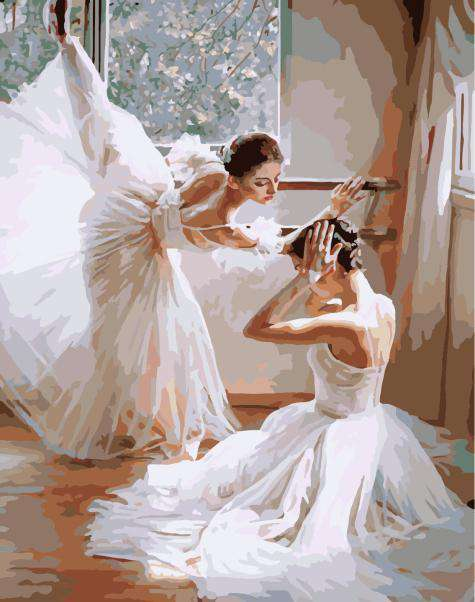 Young Ballet Dancers - Paint by Numbers Kits for Adults DIY