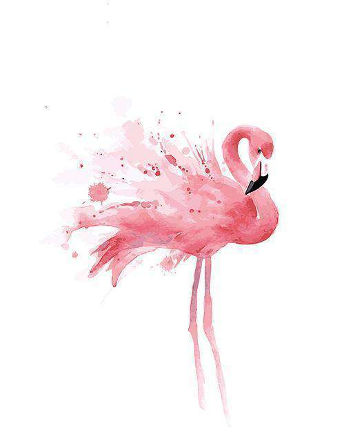 Young Flamingo - Paint by Numbers Kits for Adults DIY