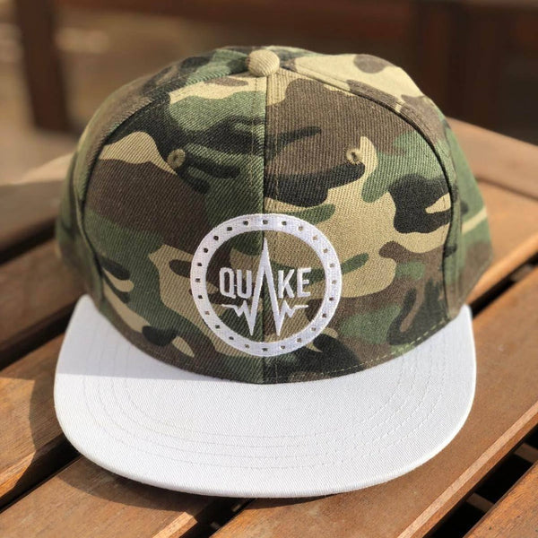 Q01 - Green Camo - men's hats - Quake Sportswear Qatar