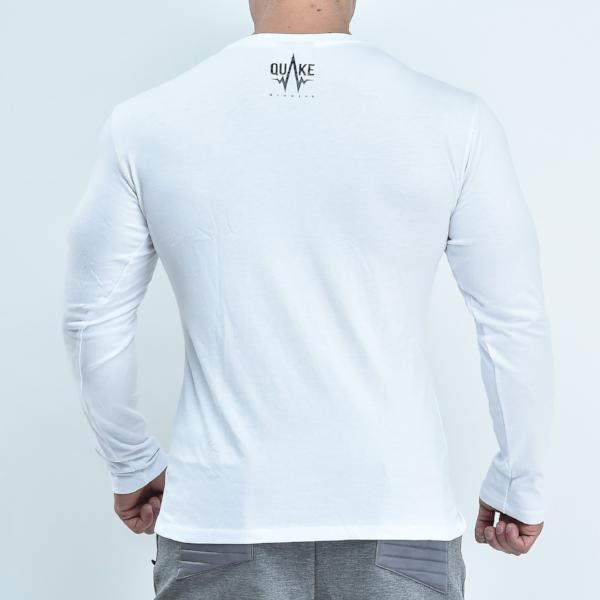 The Quake Inspo Long Sleeve - White - long sleeves - Quake Sportswear Qatar