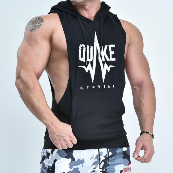 Loud Gainz Sleeveless Hoodie - hoodies - Quake Sportswear Qatar