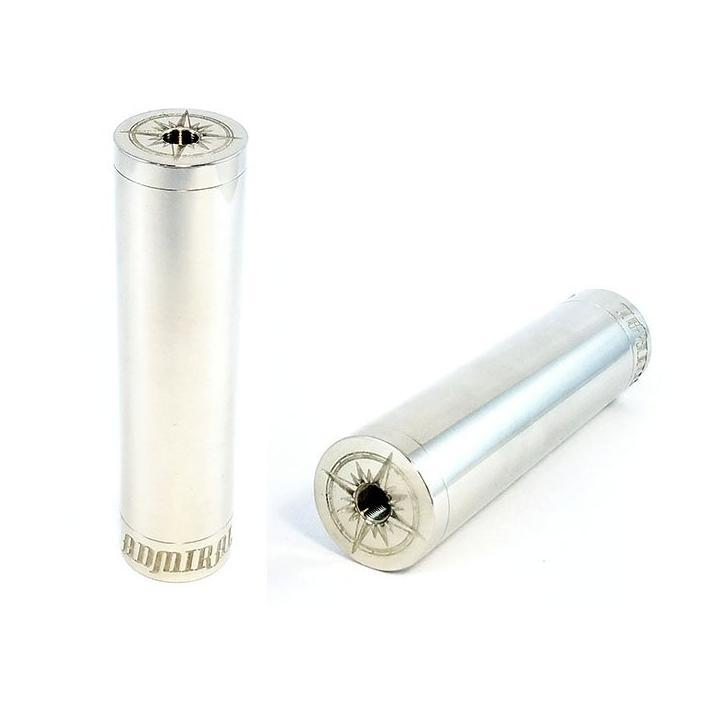 Broadside Admiral Tube Mechanical Mod by BJ Box Mods in White Brass