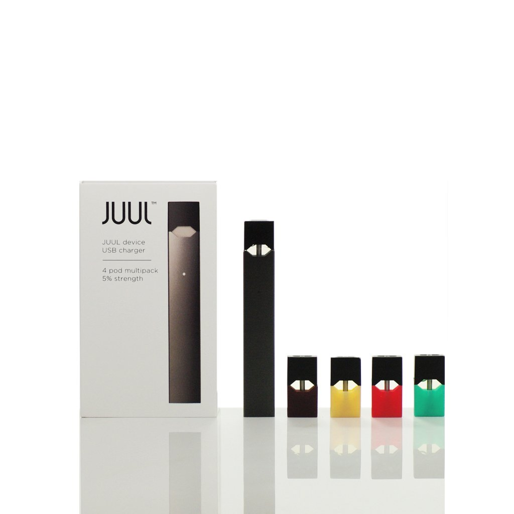 JUUL All-In-One Starter Kit with eLiquid PODs (4 Pack) at Eightvape