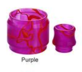 Blitz TFV8 Cloud Beast Replacement Resin Kit (Drip tip + Tube) Purple