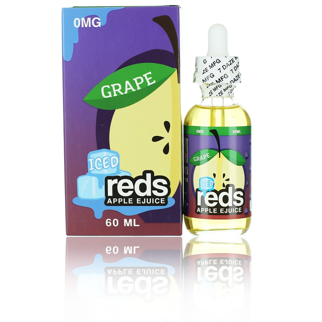 Red's Apple Vape Juice Grape ICED 60ml