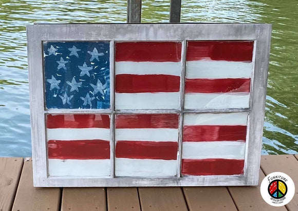 DIY with Jayne Vintage Patriotic Window Class