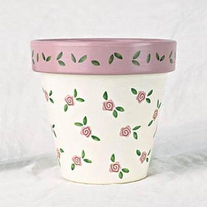 """Girly's Flowers"" - Flower Pot Stencil"