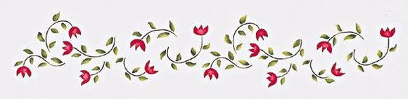 Folk Art Tulips - Border Trim Stencil